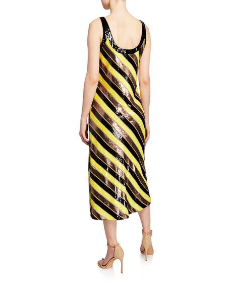 Diane von Furstenberg Luisa Sequined Cocktail Dress
