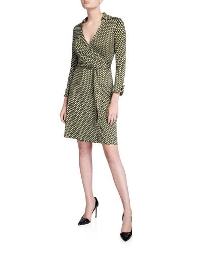 New Jeanne Two Geo-Print Wrap Dress