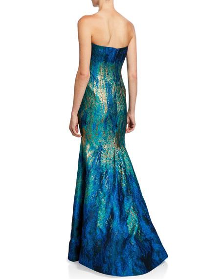 Rene Ruiz Strapless Ombre Bustier Mermaid Gown
