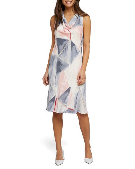 Nic+zoe Dresses SAIL AWAY COWL-NECK SLEEVELESS DRESS