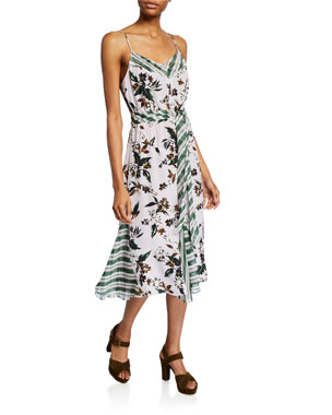 91ec9448780a Diane von Furstenberg Frieda Sleeveless Mixed-Print Dress