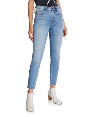 4b08f2c7ded Current Elliott The Braided High-Waist Stiletto Skinny Jeans