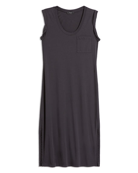 Theory Scoop-Neck Muscle Tee Cotton Dress