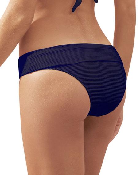 Heidi Klein Ribbed Fold-Over Hipster Bikini Bottom