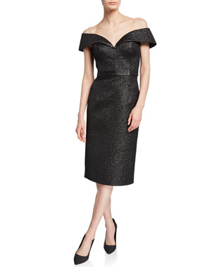 9d9f746325 Jovani Off-the-Shoulder Knee-Length Novelty Dress