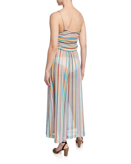 Missoni Mare Striped Sleeveless Coverup Jumpsuit