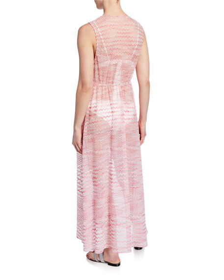 Missoni Mare Sleeveless Tie-Front Long Coverup