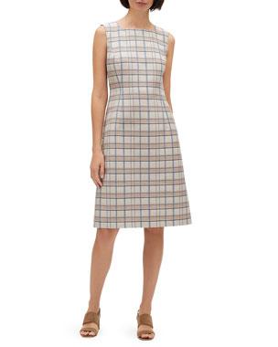 f83289cc Lafayette 148 New York Jojo Filmore Plaid Sleeveless Jacquard Dress