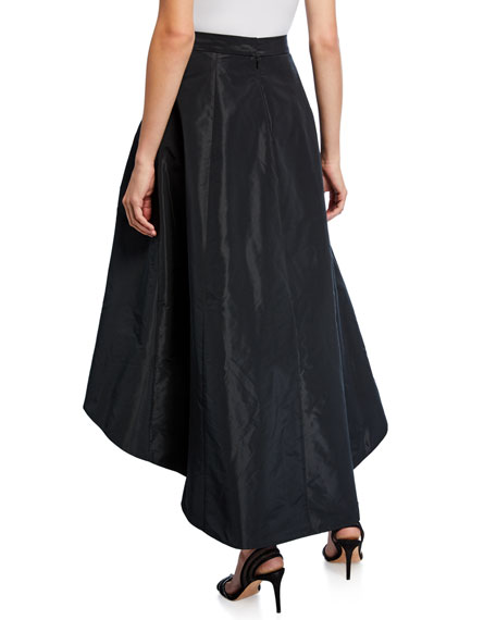 Image 2 of 3: High-Low Taffeta Midi Skirt
