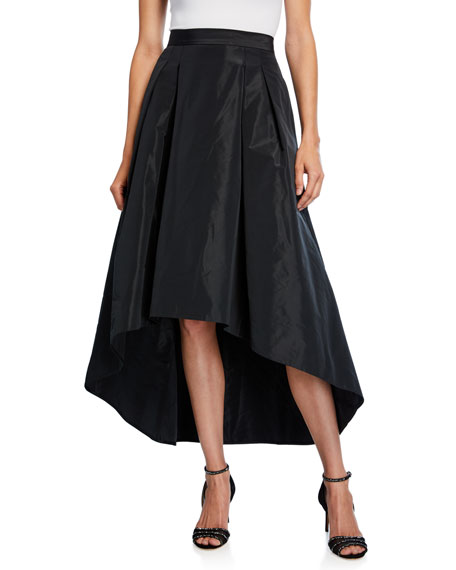 Image 1 of 3: High-Low Taffeta Midi Skirt