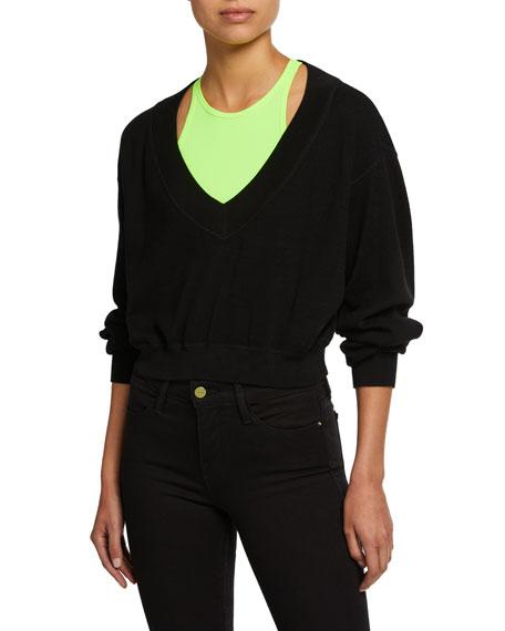 alexanderwang.t Bi-Layer Cropped Sweater Top