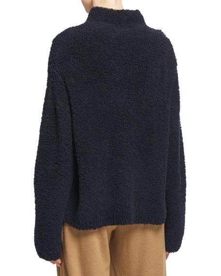 Vince Teddy Funnel-Neck Sweater