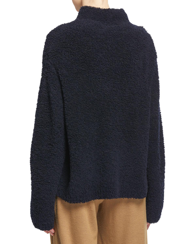 Vince Womens Long Sleeve Funnel Neck Sweater