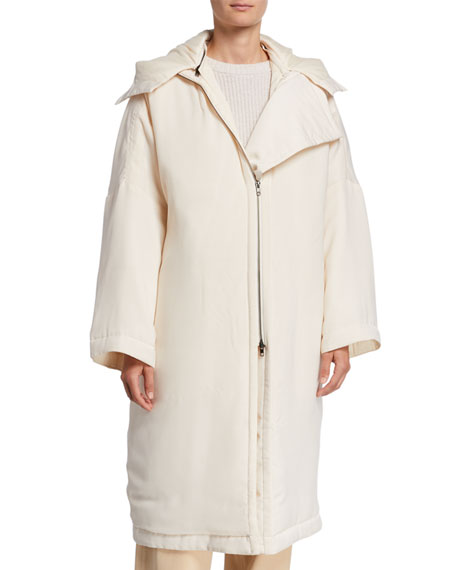 Image 1 of 3: Vince Soft-Quilted Hooded Coat