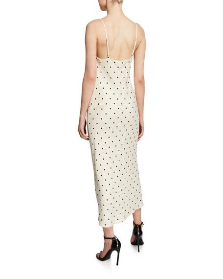 3fe7e7ea5361 Shona Joy Odell Polka-Dot Cowl-Neck Bias-Cut Sleeveless Midi Dress ...