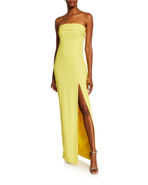 77747711c03 Jay Godfrey Oliver Strapless Column Gown with Slit