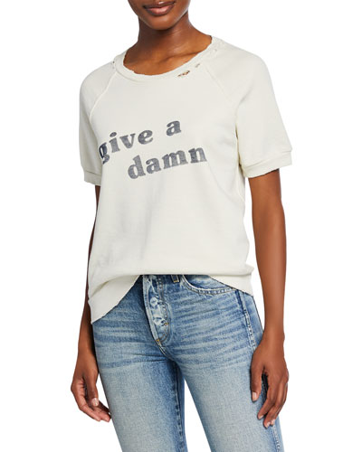 Graphic Short-Sleeve Crewneck Sweatshirt