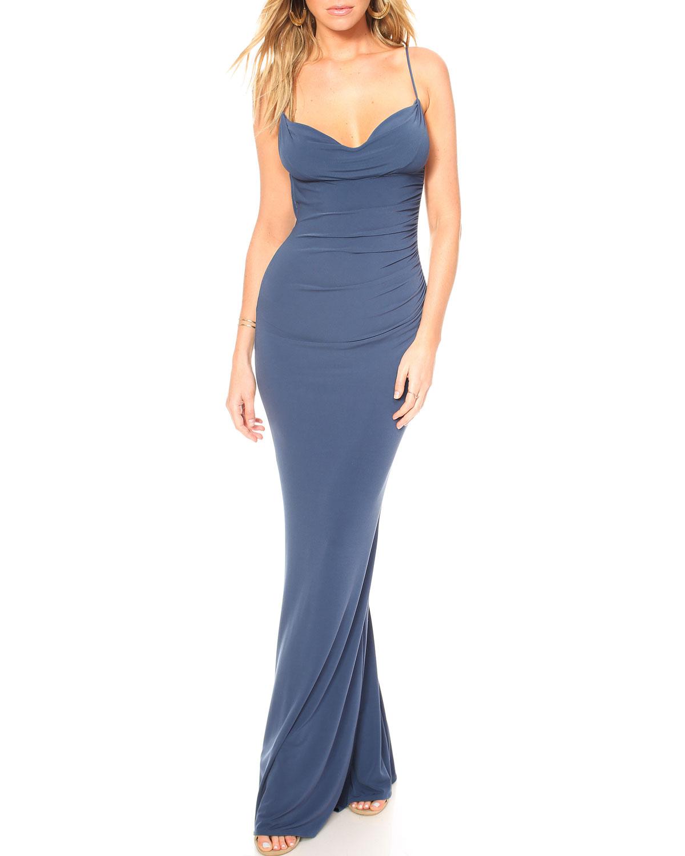 Cowl Neck Dress: Katie May Surreal Cowl-Neck Sleeveless Bodycon Dress W