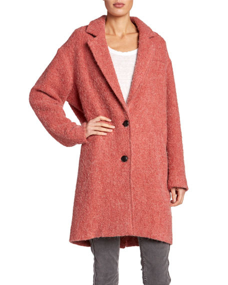 Etoile Isabel Marant Dante Two-Button Alpaca Coat