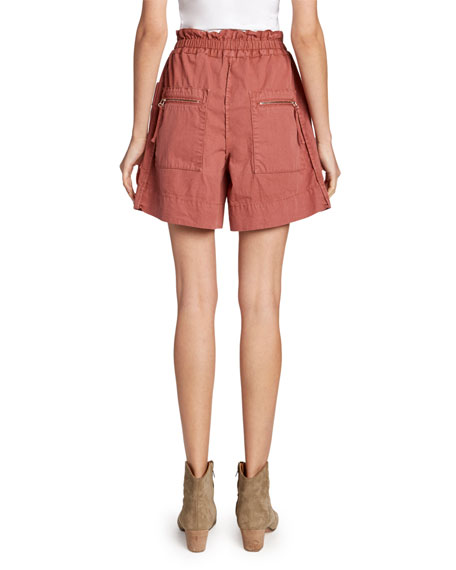 Etoile Isabel Marant Lizy Mid-Rise Utility Shorts