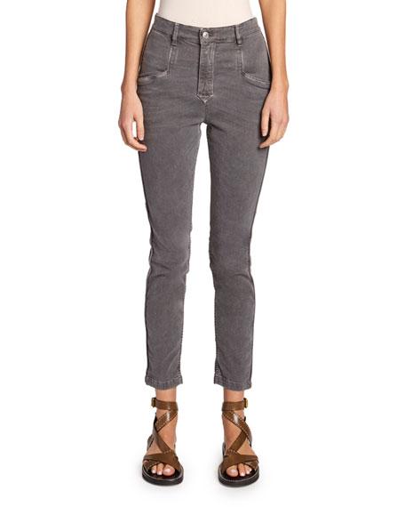 Etoile Isabel Marant Jamie Mid-Rise Straight-Leg Pants