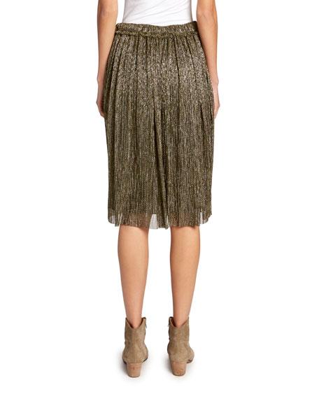 Etoile Isabel Marant Beatrice Metallic Midi Skirt