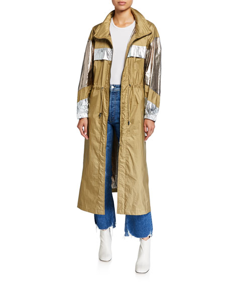 Etoile Isabel Marant Koch Metallic Long Coat