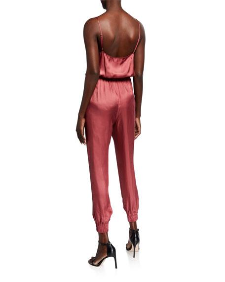 cinq a sept finnley sleeveless cowl-neck drawstring-waist jumpsuit