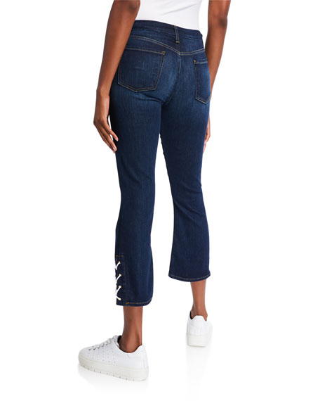 Jen7 by 7 for All Mankind Cropped Boot-Cut Jeans with Side Vents