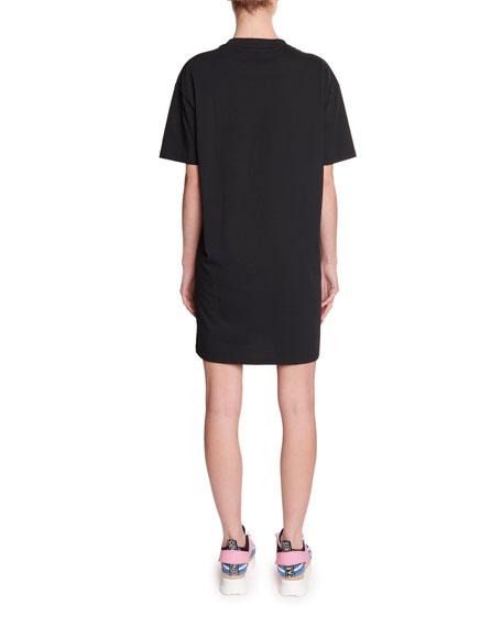 Kenzo Comfort Glitter Logo Tee Dress