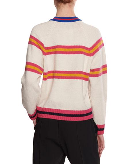 Kenzo Jumping Tiger Striped Wool Sweater