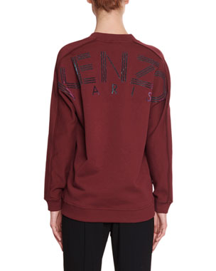 3d0d082dd Kenzo V-Neck Pullover Sweatshirt with Glitter Logo