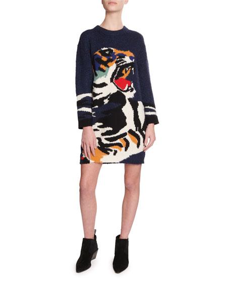 Kenzo Tiger Intarsia Sweater Dress