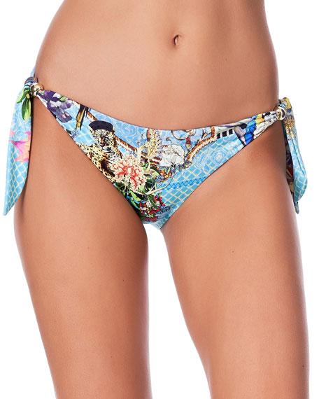 Camilla Printed Side-Tie Bikini Bottom