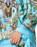 Camilla Cold-Shoulder Printed Flare-Sleeve Top