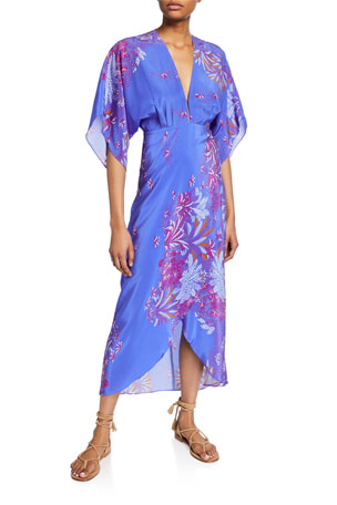 Jaline Katherine Printed V-Neck Dress