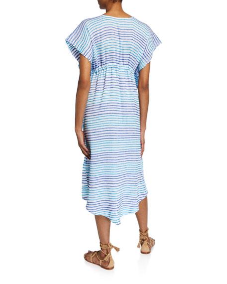 Jaline Camila Striped Hand-Woven Caftan