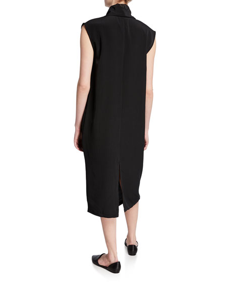 DUBGEE by Whoopi Cowl-Neck Sleeveless Overlap Dress