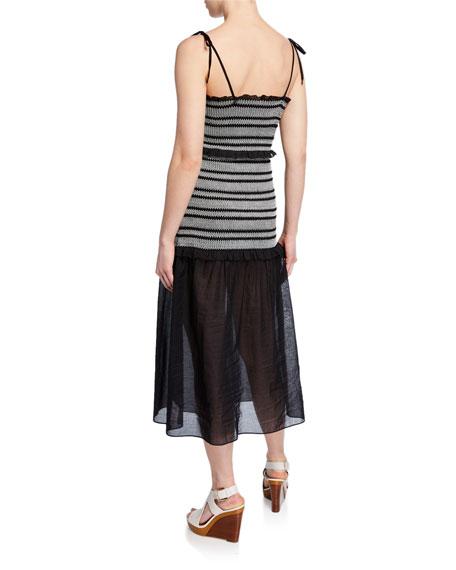 Kisuii Florence Smocked Coverup Dress