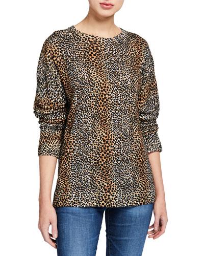 Raydon Cheetah-Print Wool Sweater