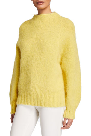 Equipment Souxanne Mock-Neck Wool Sweater