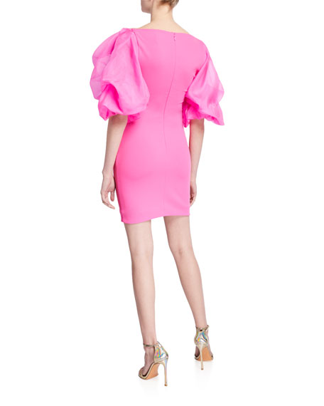 Solace London Elice Mini Dress with Organza Sleeves