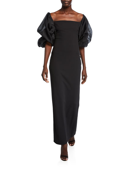 Solace London Elice Maxi Dress with Organza Sleeves