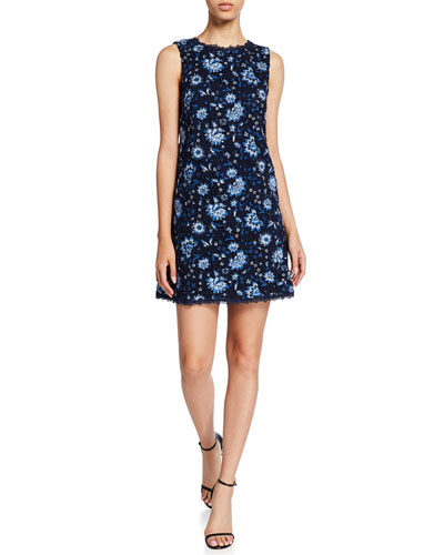 Clyde Floral Sleeveless Shift Dress