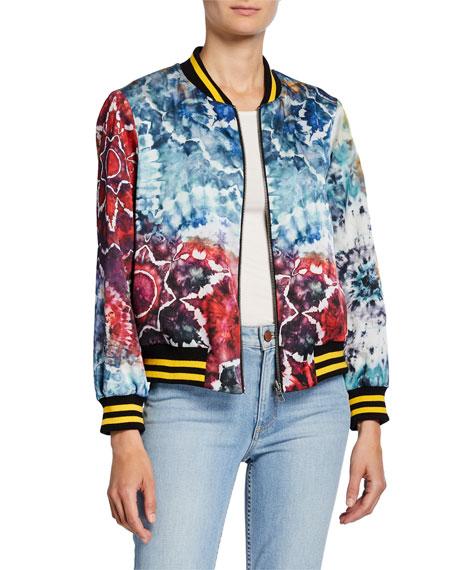 Alice + Olivia Lonnie Reversible Oversized Bomber Jacket