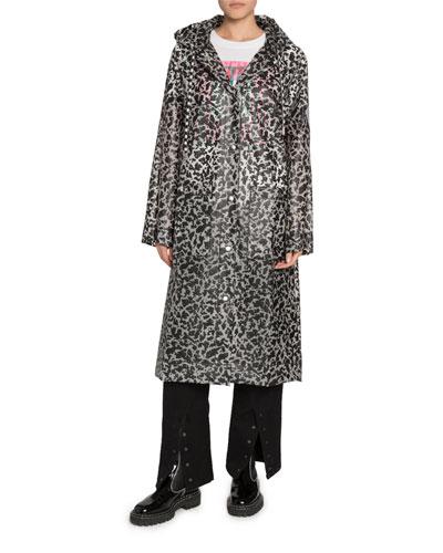 Printed Long Raincoat
