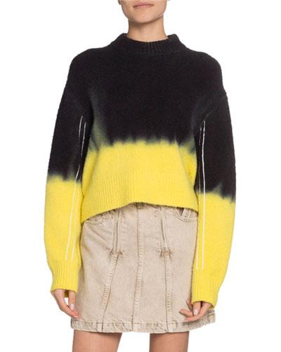 Dip Dye Crewneck Sweater