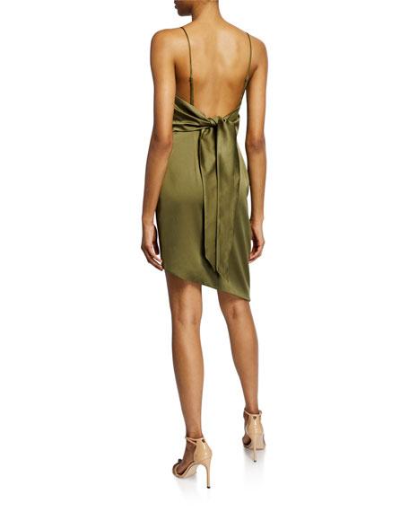 Elliatt Decaces Sleeveless Tie-Back Asymmetric Short Dress