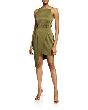 2533be59d32 Elliatt Decaces Sleeveless Tie-Back Asymmetric Short Dress