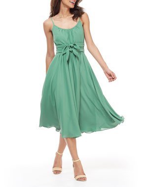 a1e2203265 Gal Meets Glam Collection Scoop-Neck Sleeveless Double Waist Bow Dress